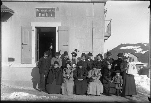 Bureau des Postes. Buttes, 1896