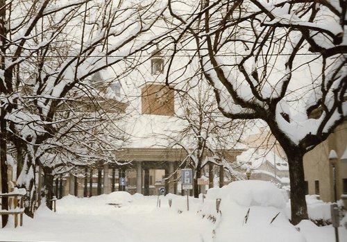 Vevey sous la neige 1985