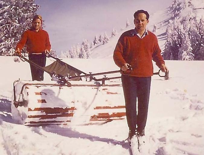 Mécanisation de la montagne: le damage de pistes de ski