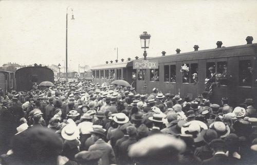 La Gare d'Yverdon en 1916