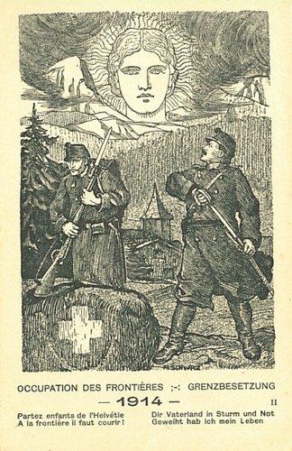 Occupation des frontières 1914