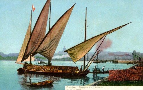 Barque du Léman, le déchargement