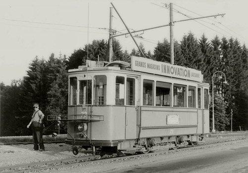 Lausanne le tram à En Marin