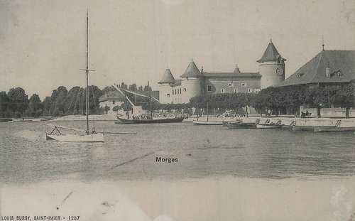 Morges le port et le château