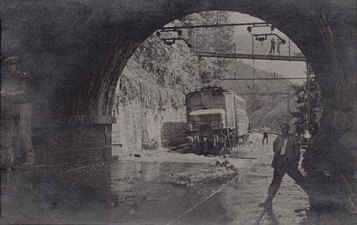 Montreux Territet éboulement sur la voie ferrée