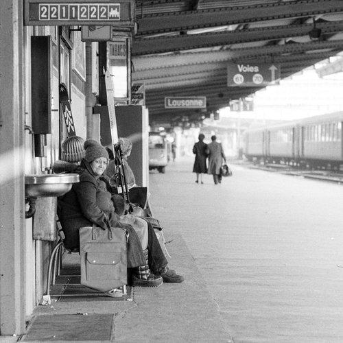 Gare de Lausanne, sur le quai