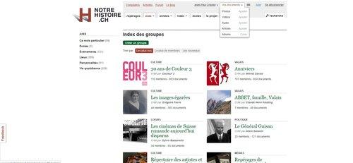 """Notre Histoire ancien site Internet, page """"Vos documents"""""""
