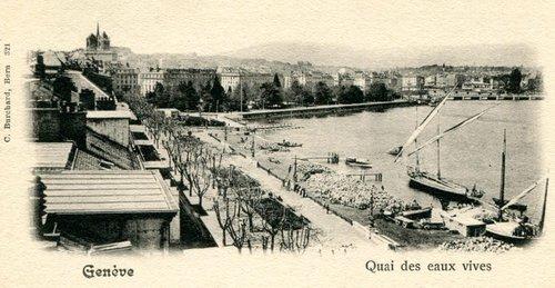 Genève, l'ancien quai des Eaux-Vives