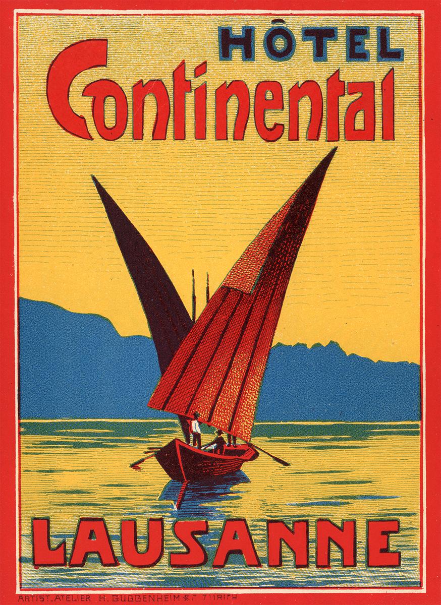 Étiquettes de bagage d'hôtels du canton de Vaud (1910 - 1930)