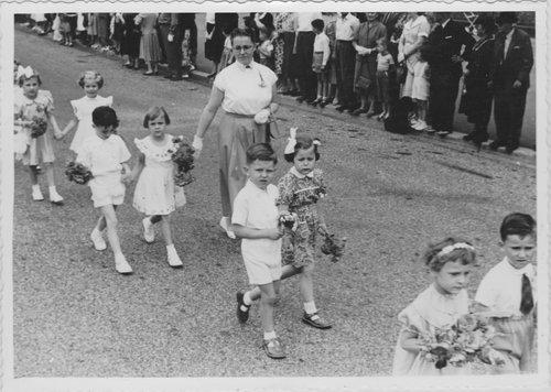 Lausanne, 1955, Fête du bois des écoles enfantines