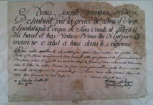 Oratoire du Carrovilla, son pacte.