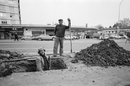 Genève, deux ouvriers