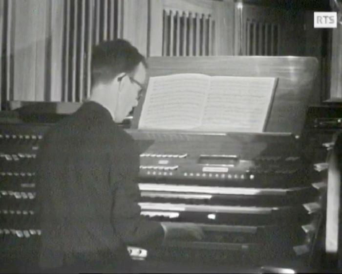 Johann Sebastian BACH, «O Lamm Gottes unschuldig» (Agneau innocent de Dieu), Choral pour orgue, BWV 1095, Lionel ROGG, Cathédrale de Lausanne, RTS, 25 mai 1966, cliquer pour une vue agrandie
