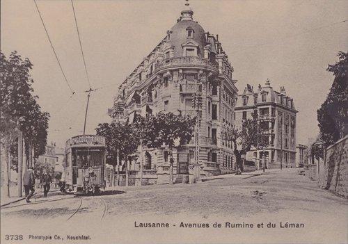 Lausanne avenue de Rumine et du Léman