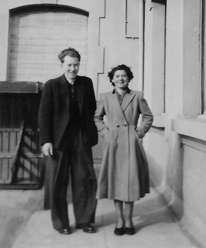 Mes parents à Martigny ~1952